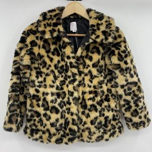 TCP Furry Cheetah Fish Hook Girls Jacket